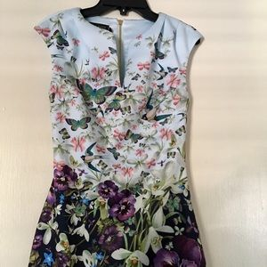 Ted Baker Floral Butterfly Dress Size 0